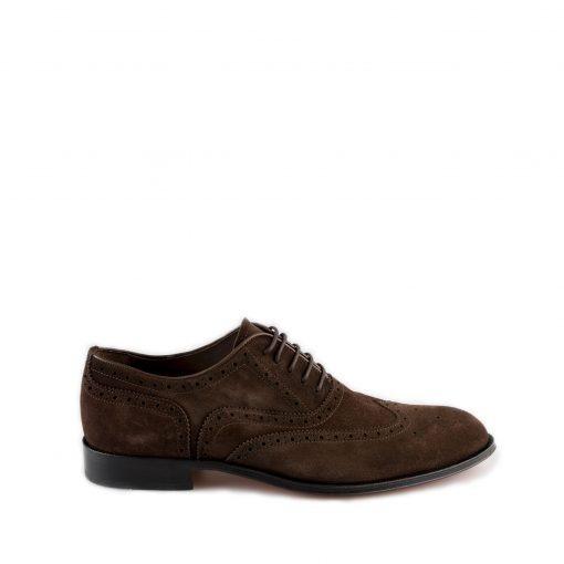 Suede donkerbruin heren schoenen