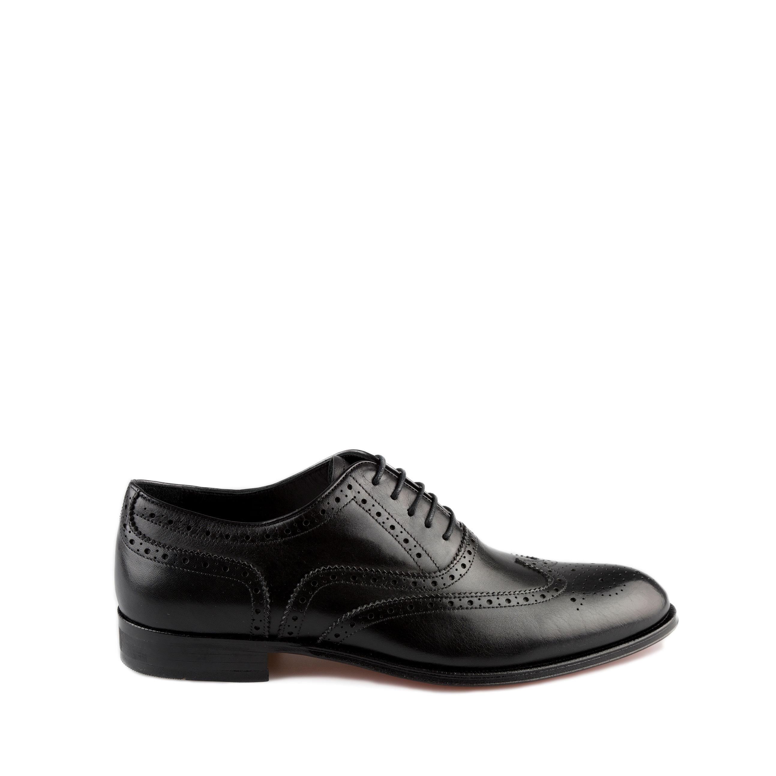 Zwart leren heren schoenen