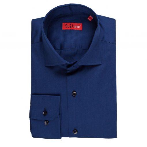 Overhemd blauw navy