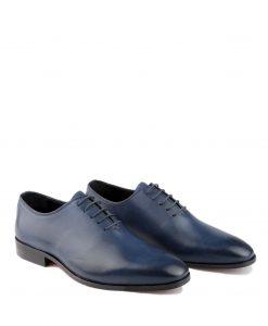 Classic blauw leren heren schoenen
