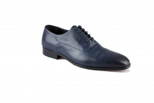 blauw leren heren schoenen