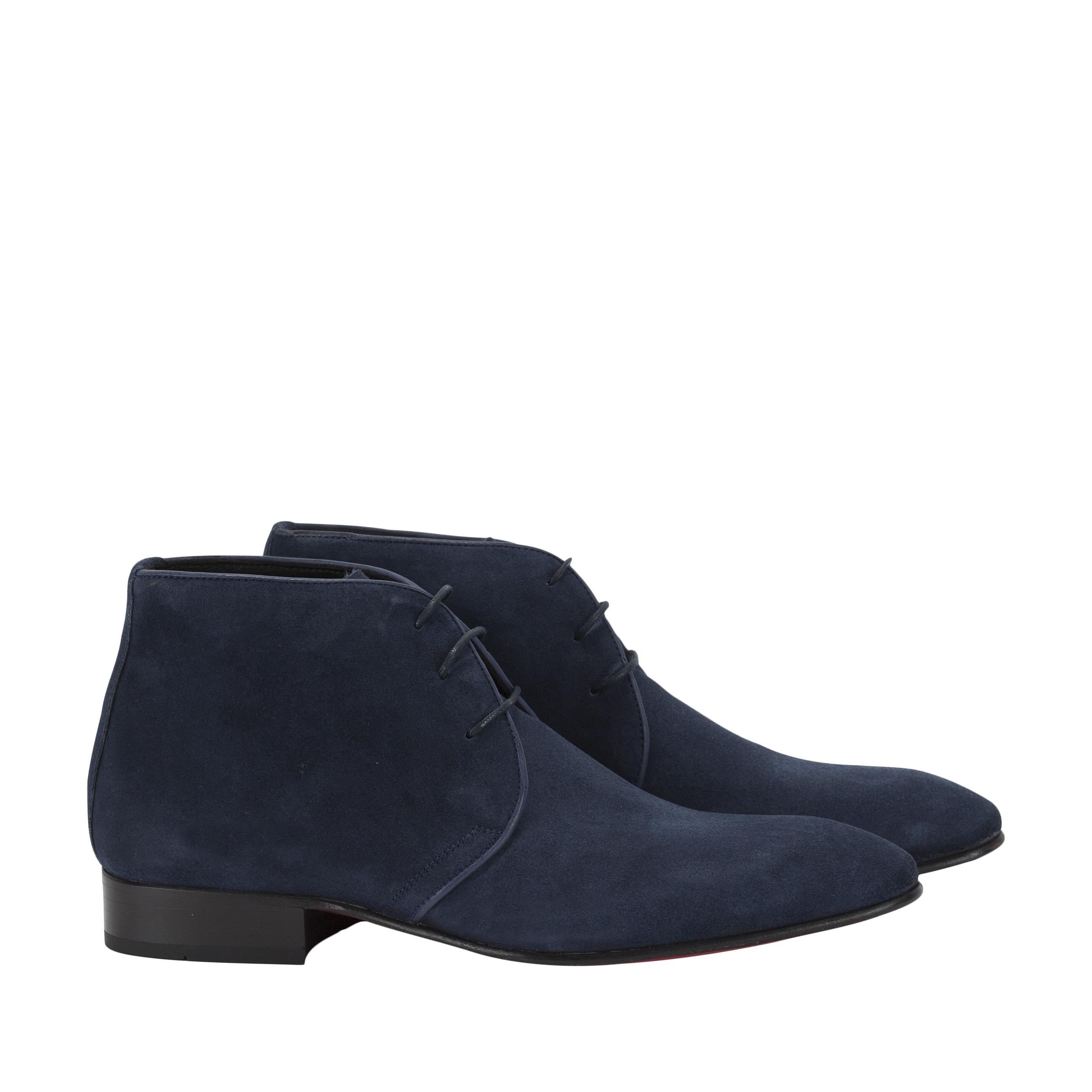 276cb4180f6 Heren schoenen blauw suede