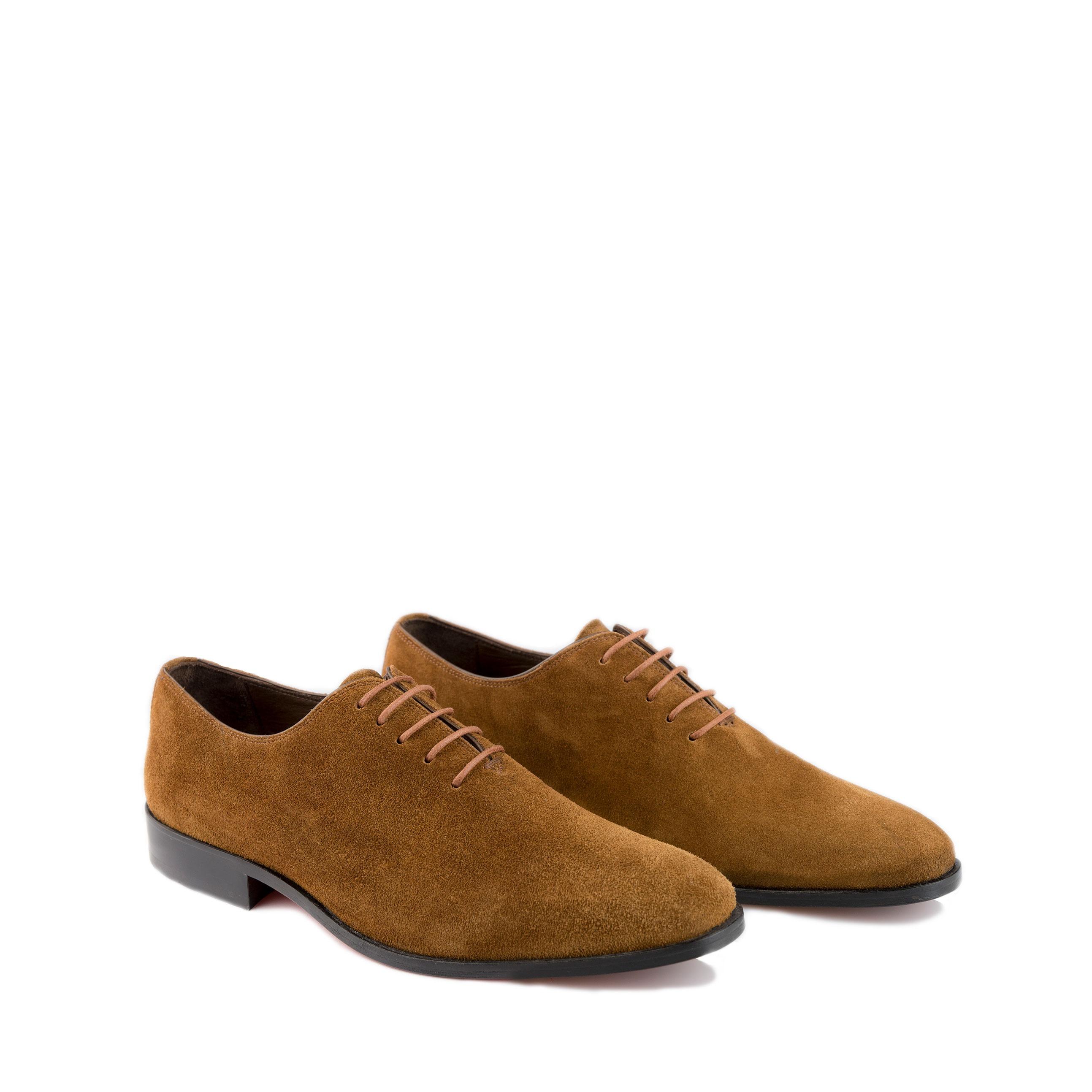 Suede lichtbruin heren schoenen